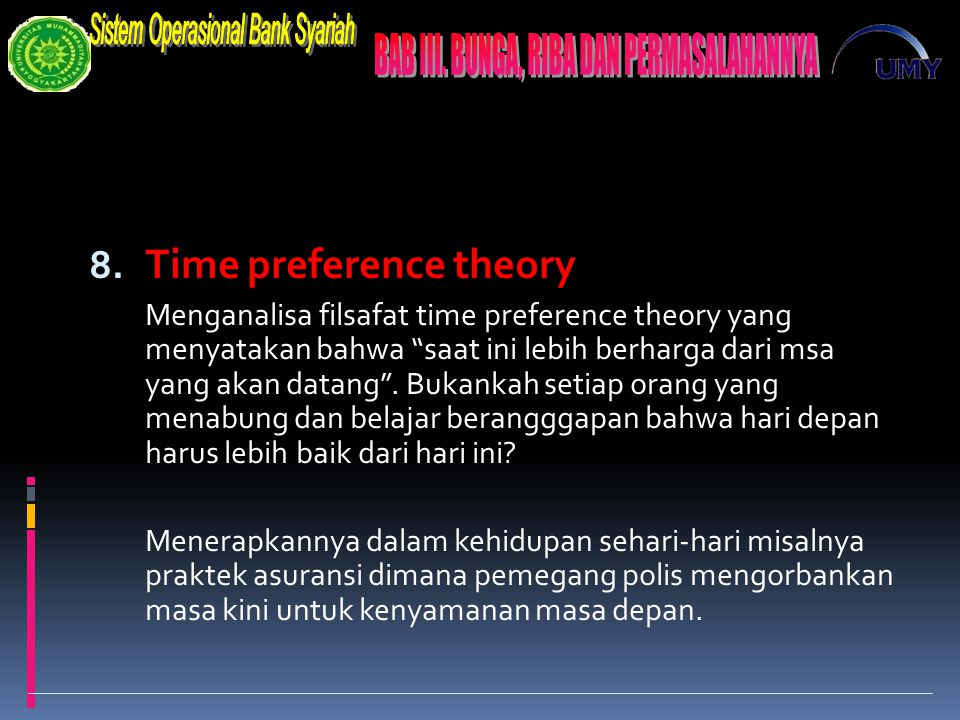 Time preference theory