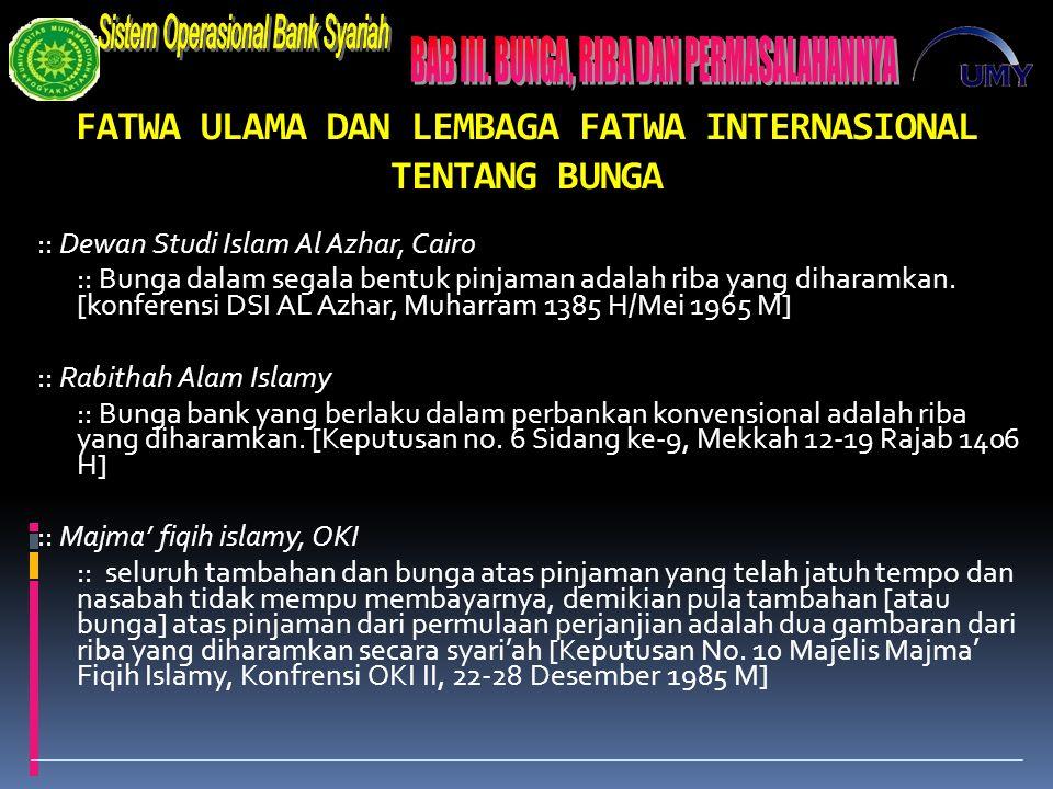 FATWA ULAMA DAN LEMBAGA FATWA INTERNASIONAL TENTANG BUNGA