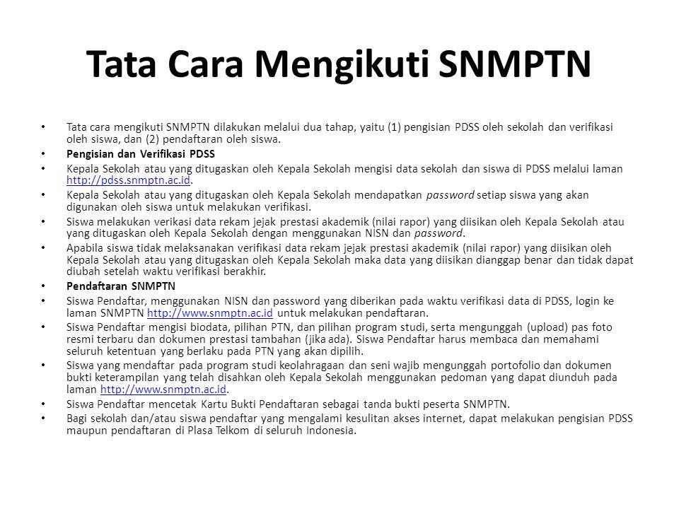 Tata Cara Mengikuti SNMPTN