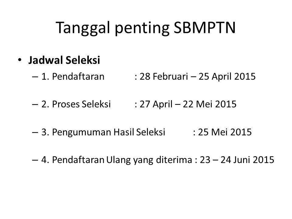 Tanggal penting SBMPTN