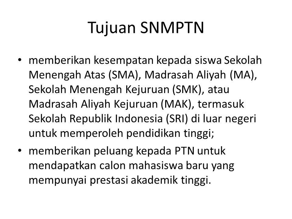 Tujuan SNMPTN