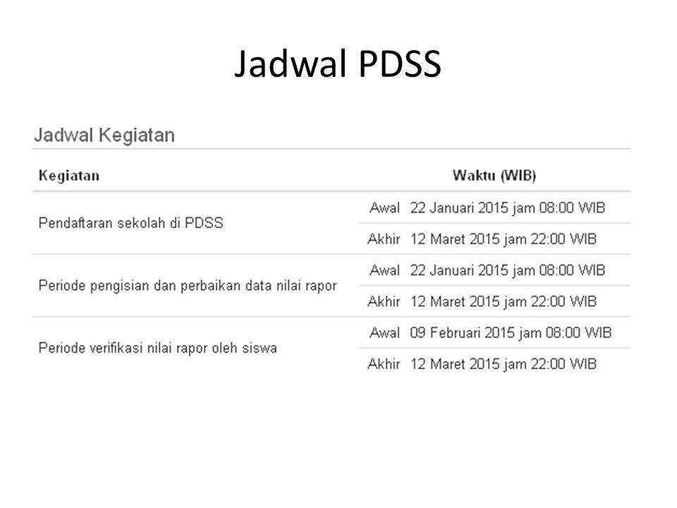 Jadwal PDSS