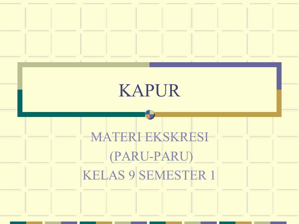 MATERI EKSKRESI (PARU-PARU) KELAS 9 SEMESTER 1