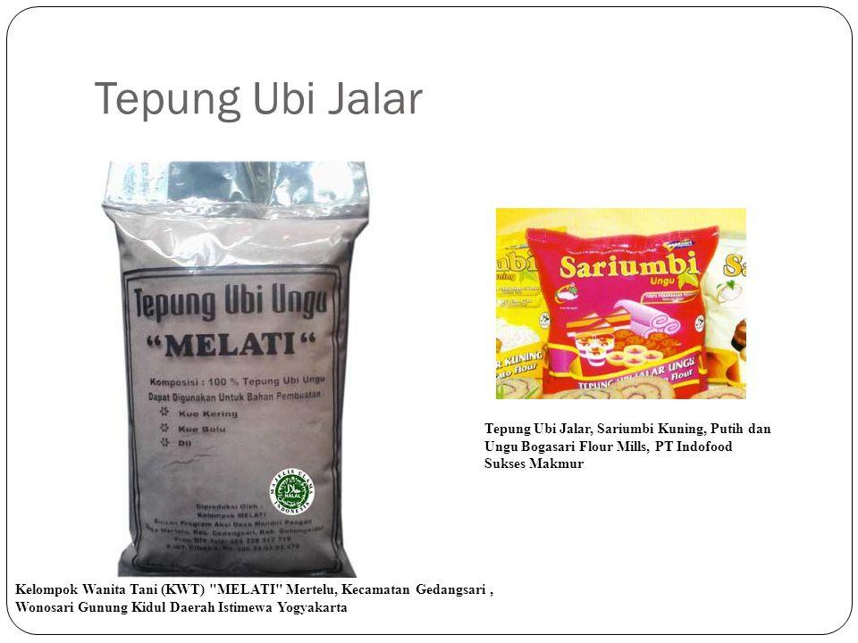 Tepung Ubi Jalar Tepung Ubi Jalar, Sariumbi Kuning, Putih dan Ungu Bogasari Flour Mills, PT Indofood Sukses Makmur.