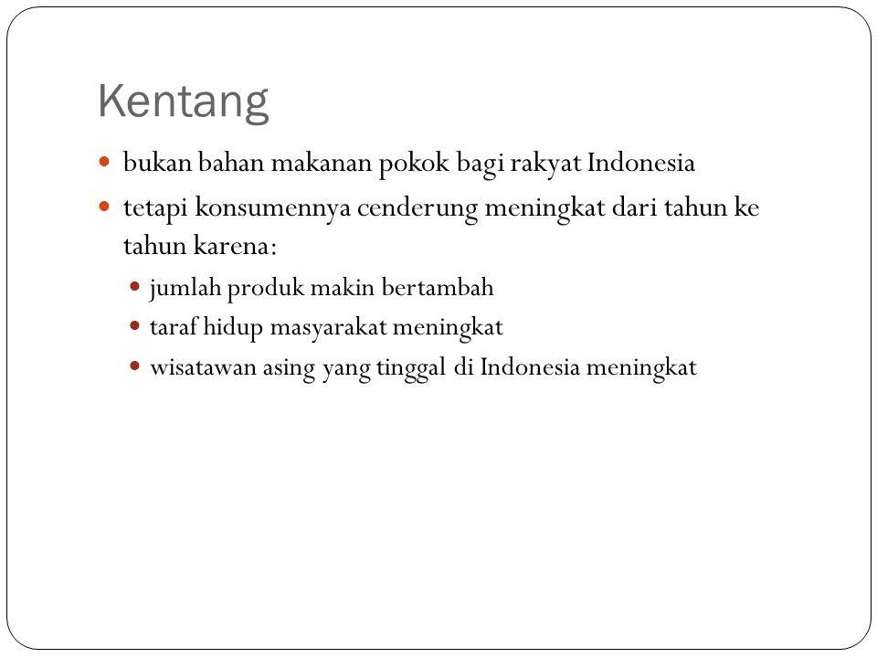 Kentang bukan bahan makanan pokok bagi rakyat Indonesia