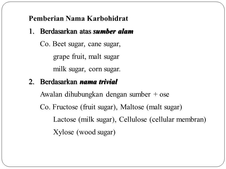 Pemberian Nama Karbohidrat