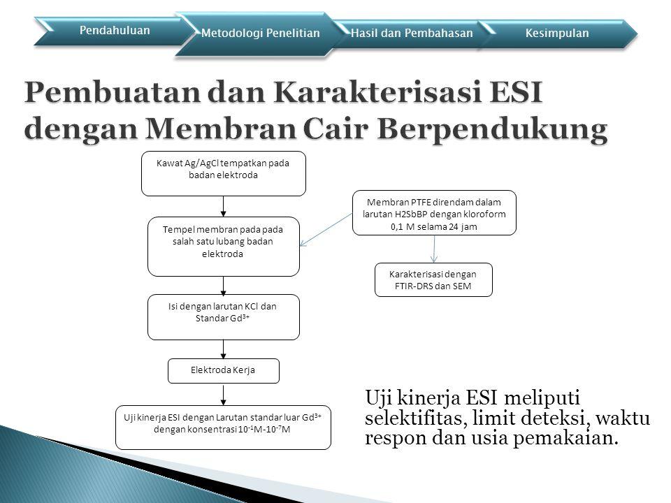 Pembuatan dan Karakterisasi ESI dengan Membran Cair Berpendukung
