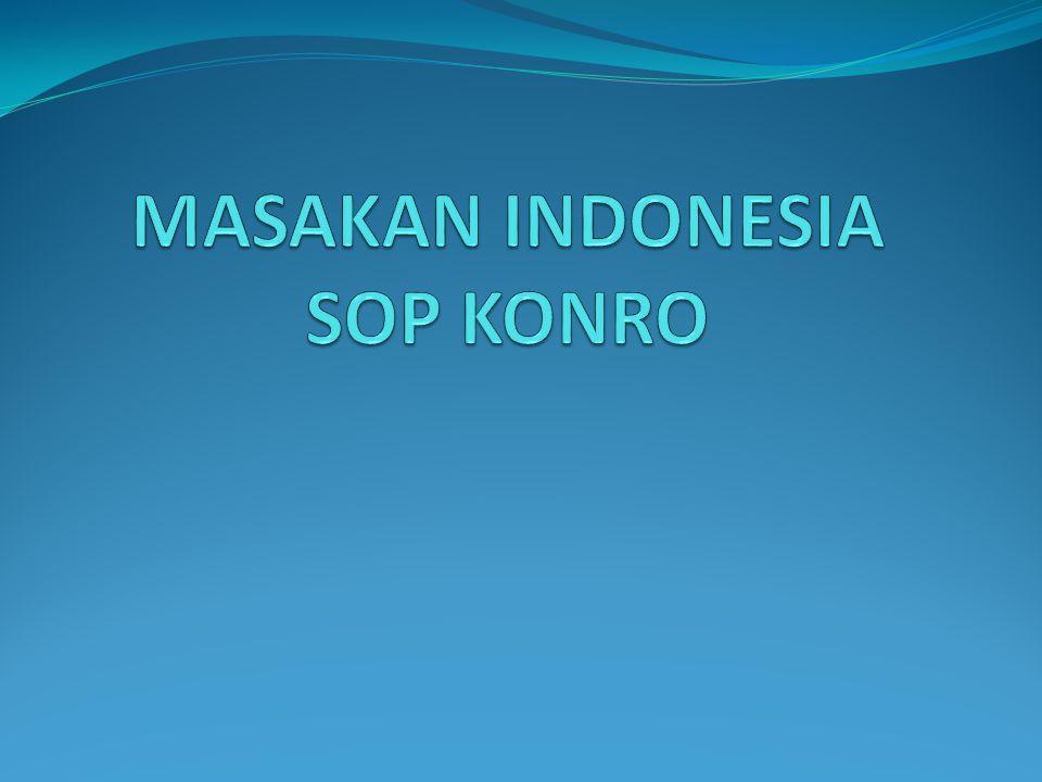 MASAKAN INDONESIA SOP KONRO