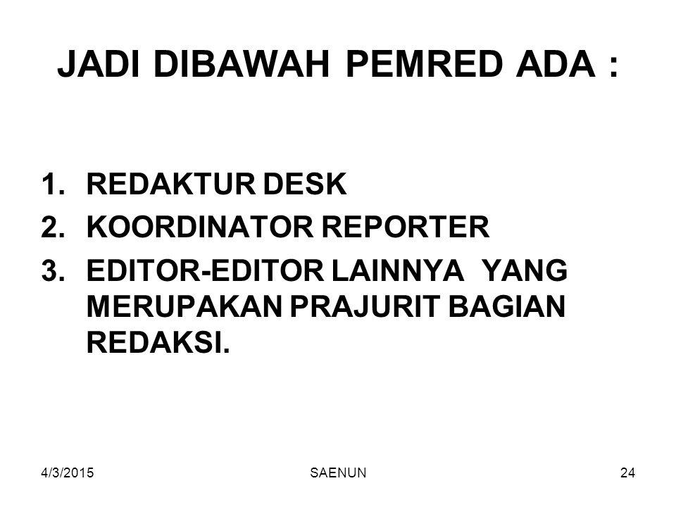 JADI DIBAWAH PEMRED ADA :