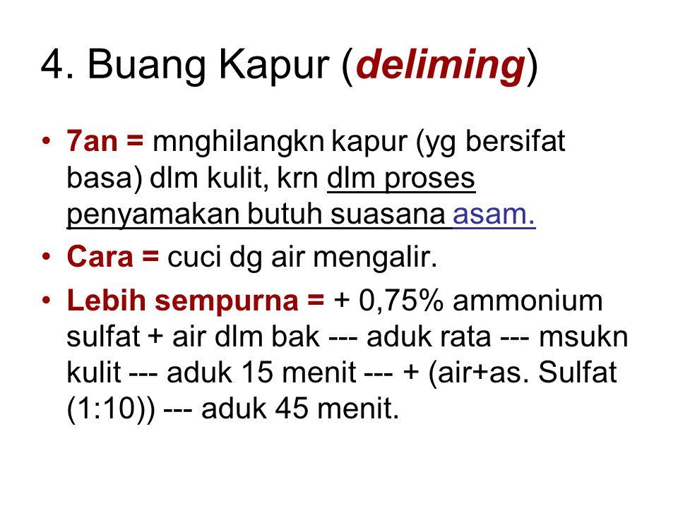 4. Buang Kapur (deliming)