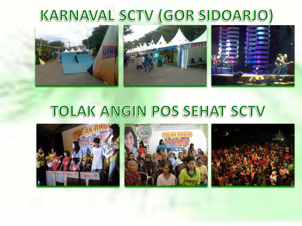 KARNAVAL SCTV (GOR SIDOARJO) TOLAK ANGIN POS SEHAT SCTV