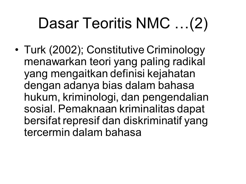 Dasar Teoritis NMC …(2)