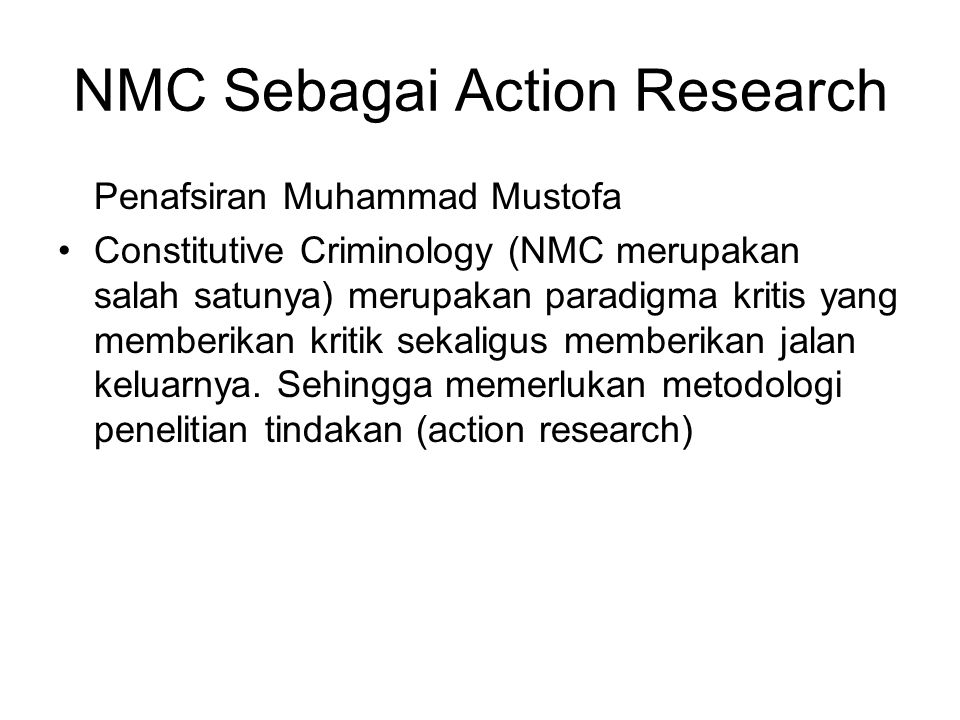 NMC Sebagai Action Research