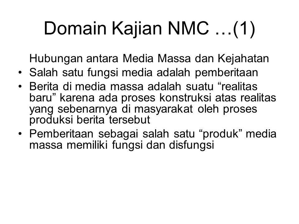 Domain Kajian NMC …(1) Hubungan antara Media Massa dan Kejahatan