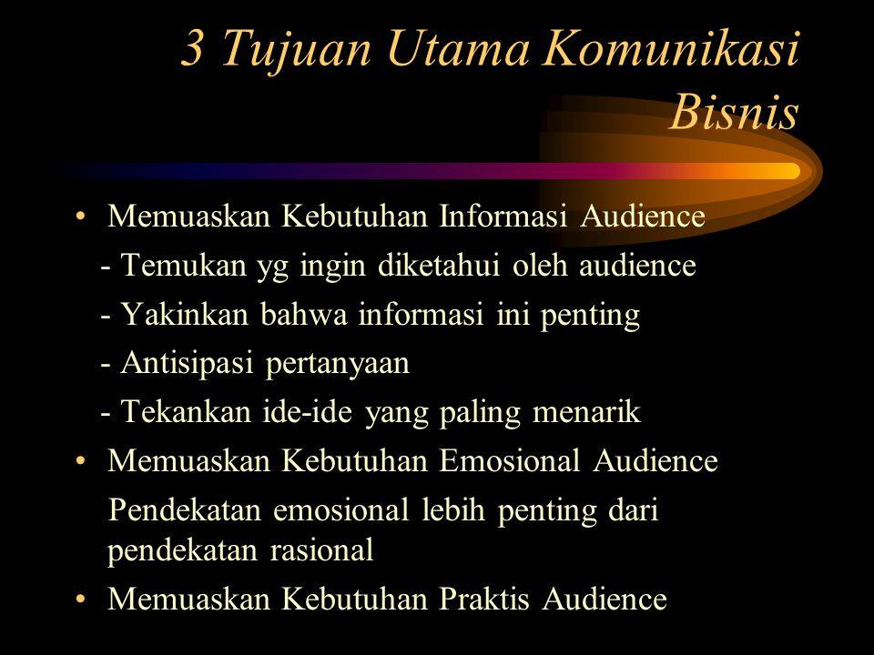 3 Tujuan Utama Komunikasi Bisnis