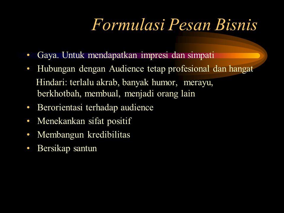 Formulasi Pesan Bisnis