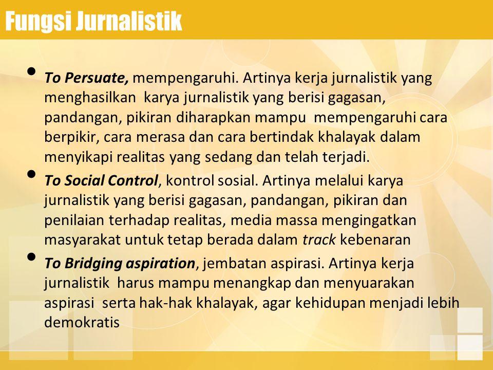 Fungsi Jurnalistik