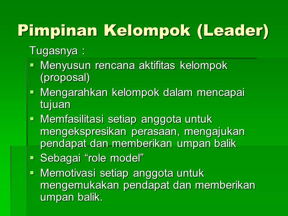 Pimpinan Kelompok (Leader)