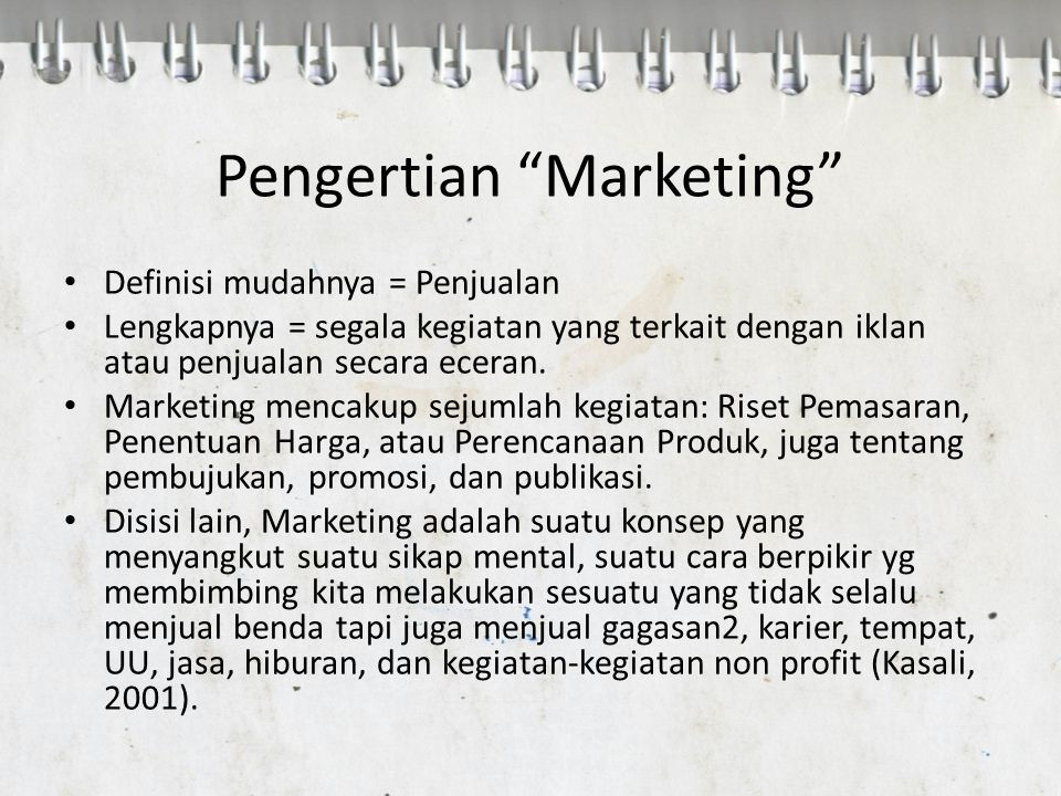 Pengertian Marketing