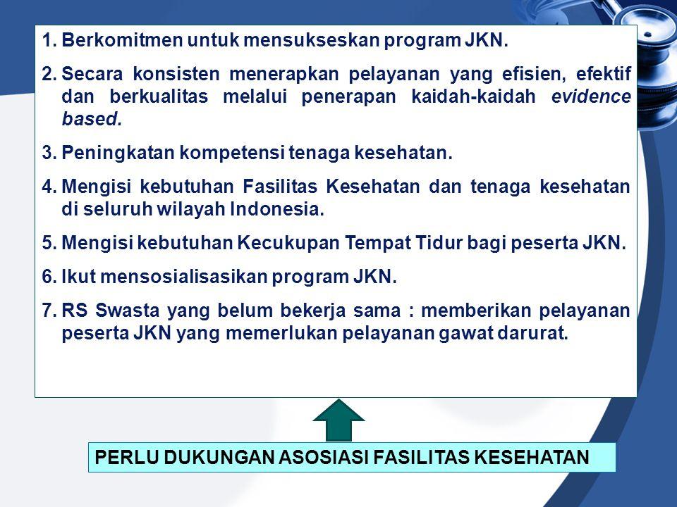 Berkomitmen untuk mensukseskan program JKN.