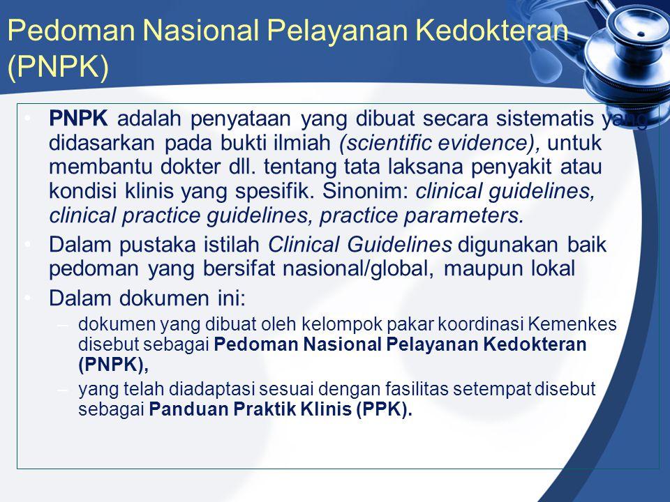 Pedoman Nasional Pelayanan Kedokteran (PNPK)