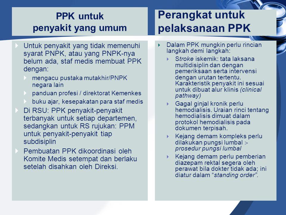 PPK untuk penyakit yang umum