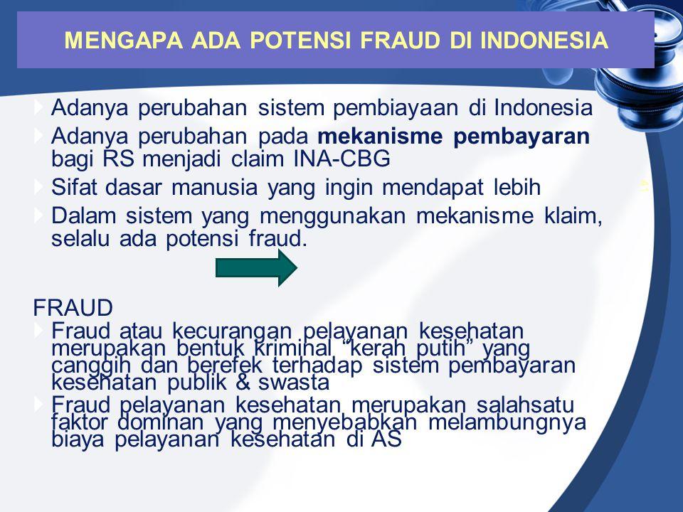 MENGAPA ADA POTENSI FRAUD DI INDONESIA