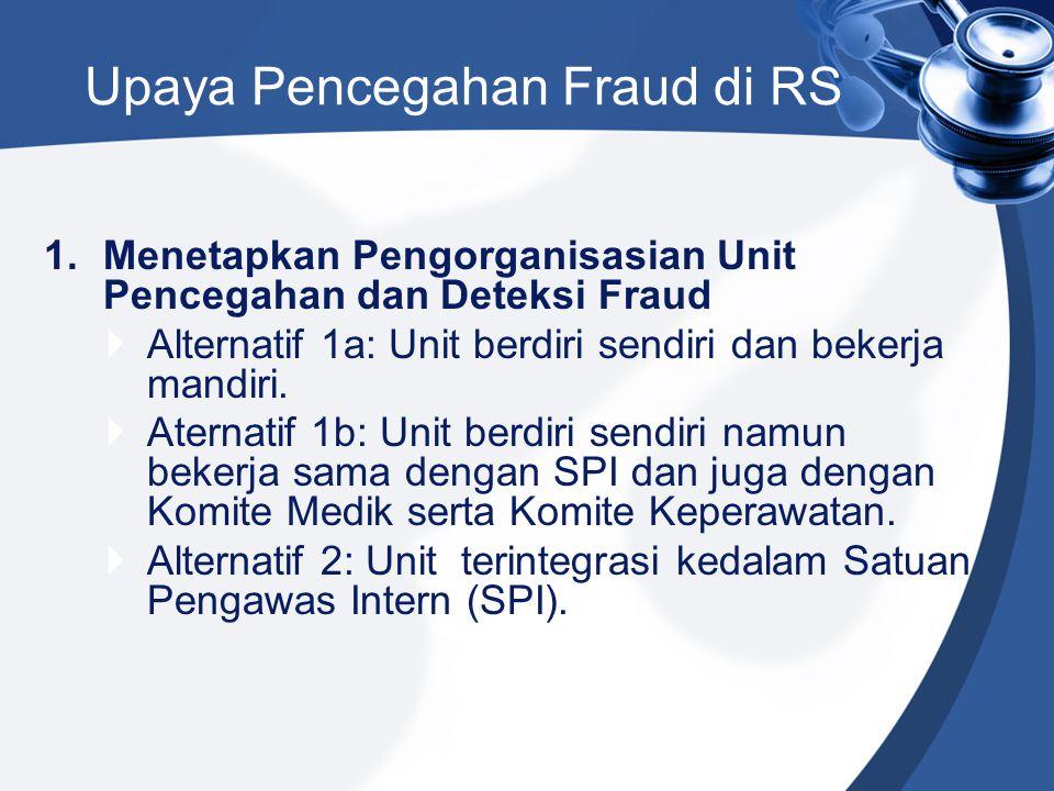 Upaya Pencegahan Fraud di RS
