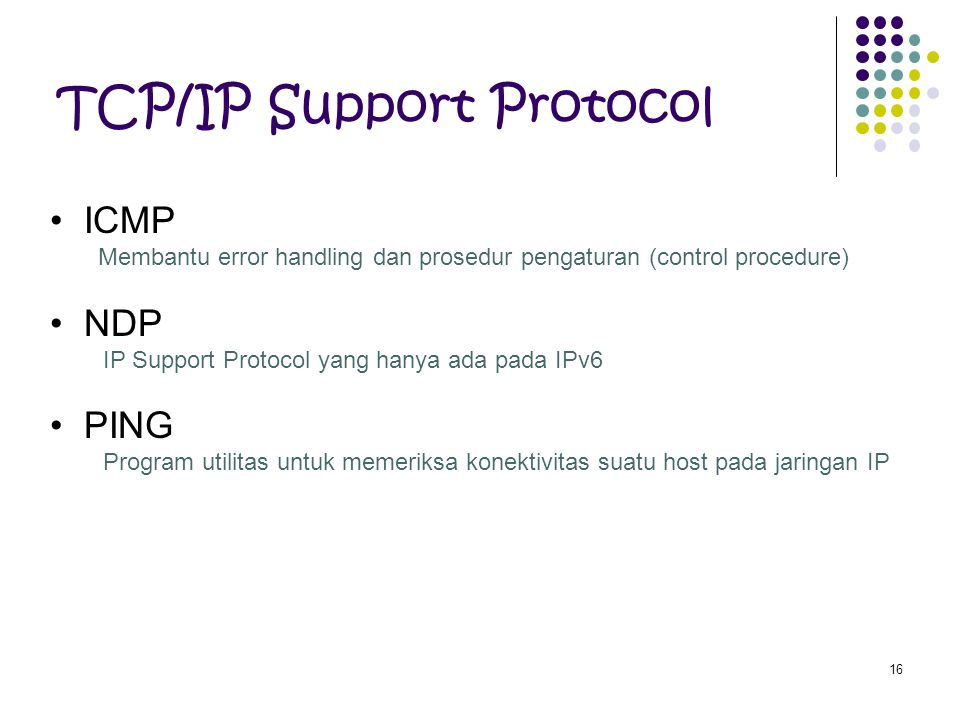 TCP/IP Support Protocol