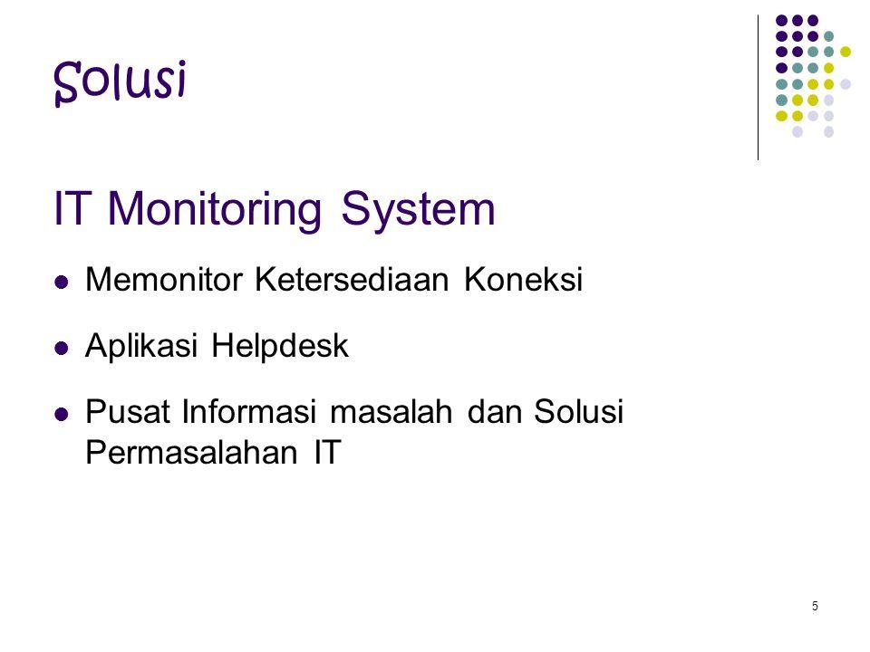 Solusi IT Monitoring System Memonitor Ketersediaan Koneksi