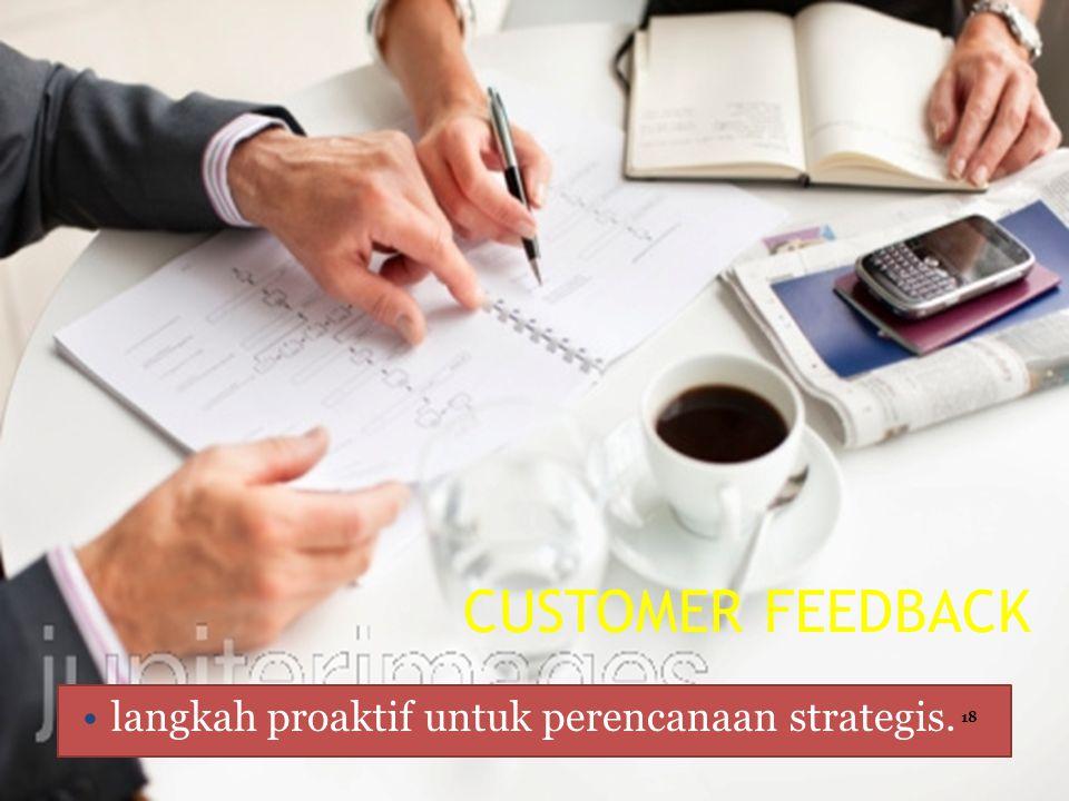 CUSTOMER FEEDBACK langkah proaktif untuk perencanaan strategis.