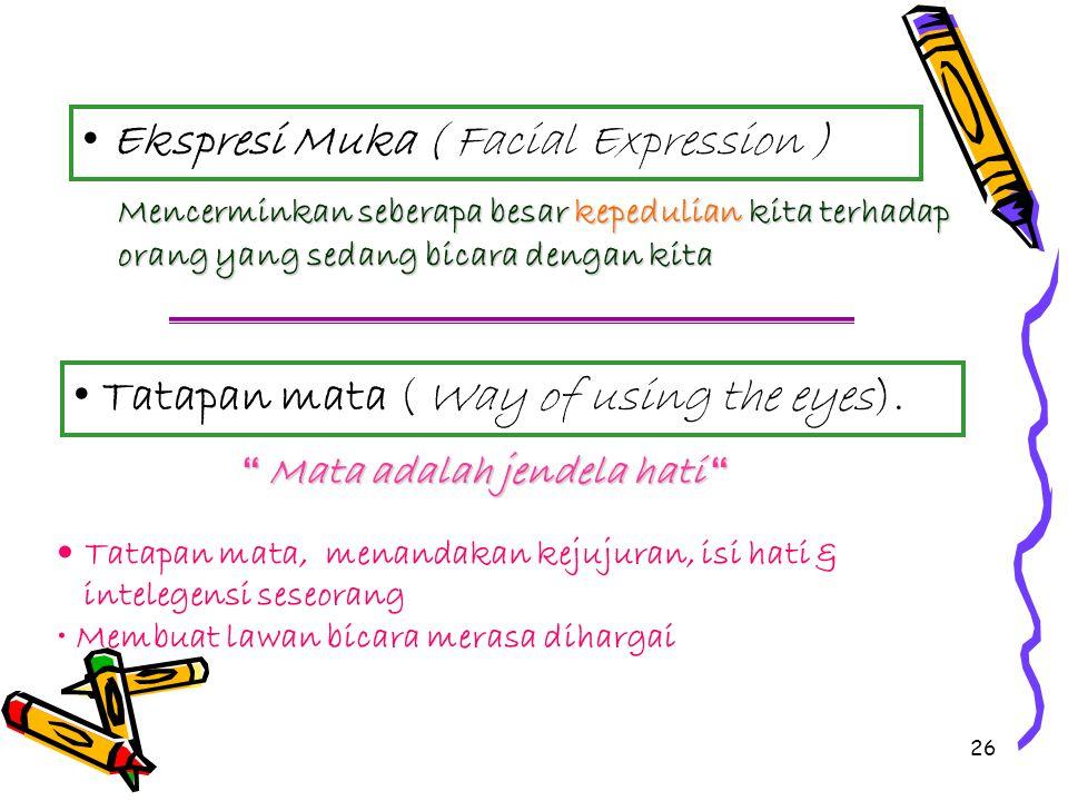 Ekspresi Muka ( Facial Expression )