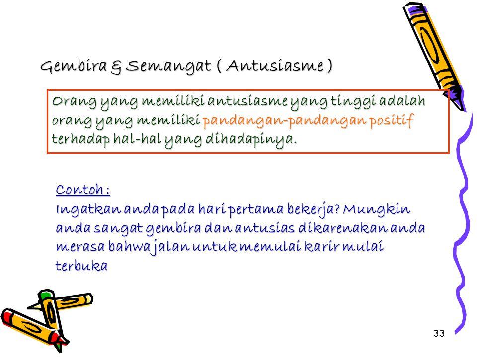 Gembira & Semangat ( Antusiasme )