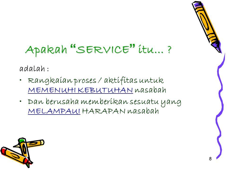 Apakah SERVICE itu… adalah :