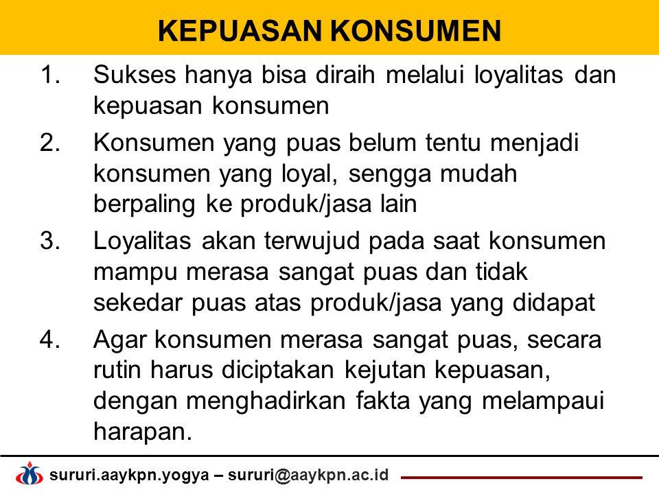 Sukses hanya bisa diraih melalui loyalitas dan kepuasan konsumen