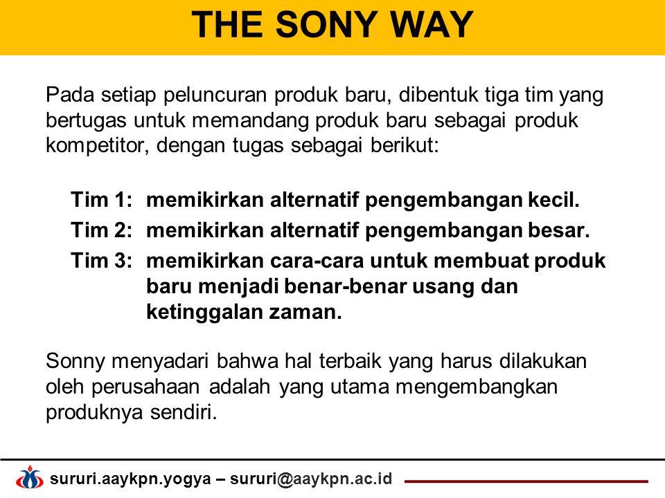 THE SONY WAY