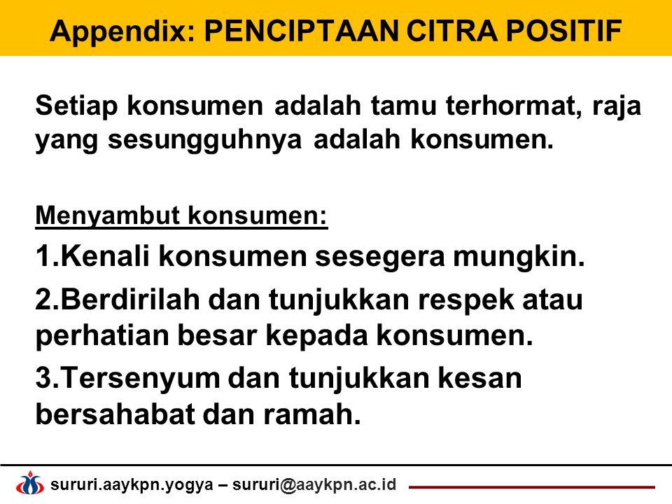Appendix: PENCIPTAAN CITRA POSITIF