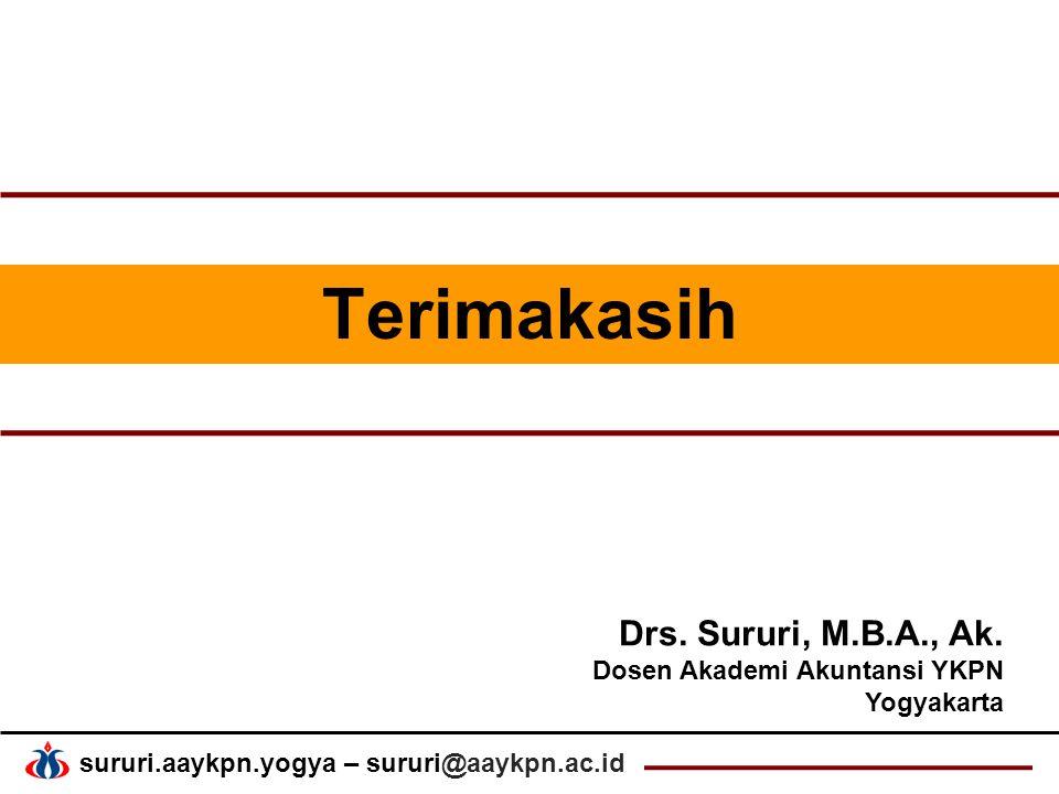 Terimakasih Drs. Sururi, M.B.A., Ak. Dosen Akademi Akuntansi YKPN