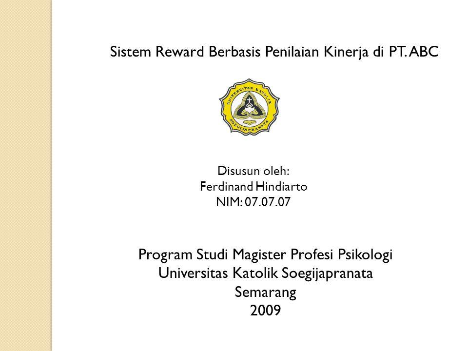 Sistem Reward Berbasis Penilaian Kinerja di PT. ABC