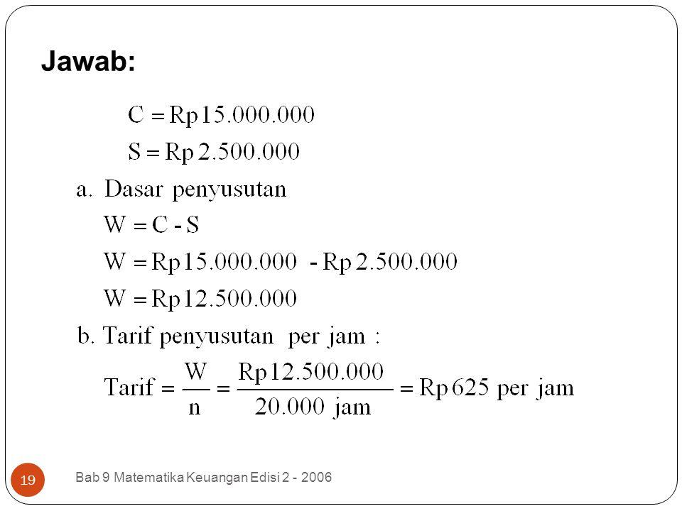 Jawab: Bab 9 Matematika Keuangan Edisi 2 - 2006