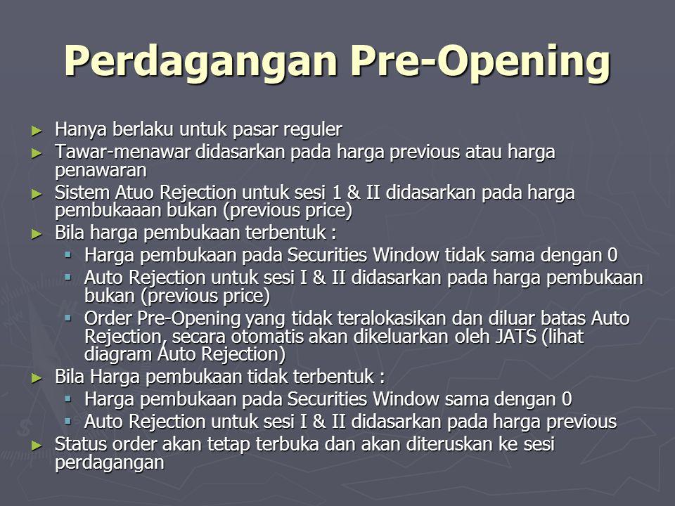 Perdagangan Pre-Opening