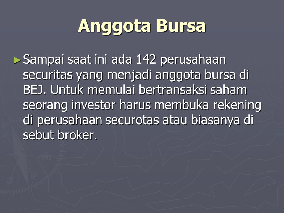 Anggota Bursa