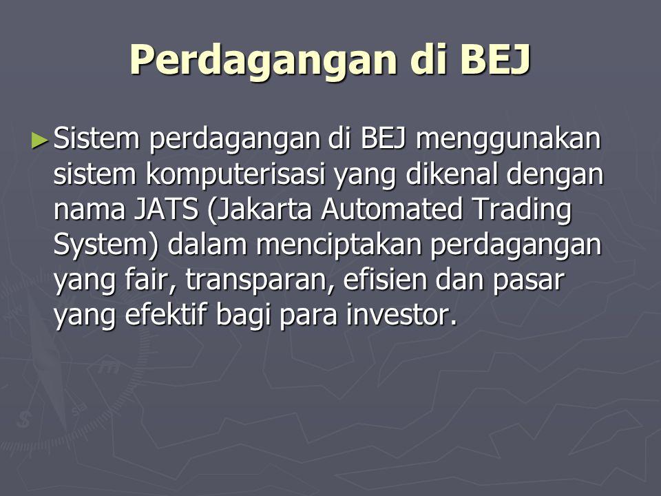 Perdagangan di BEJ