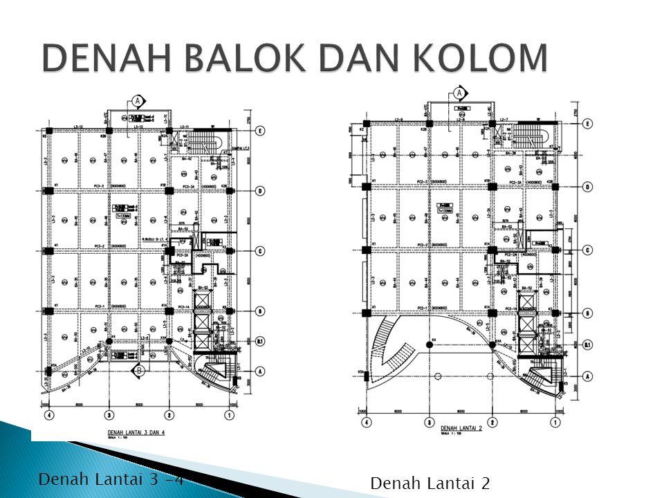 DENAH BALOK DAN KOLOM Denah Lantai 3 -4 Denah Lantai 2
