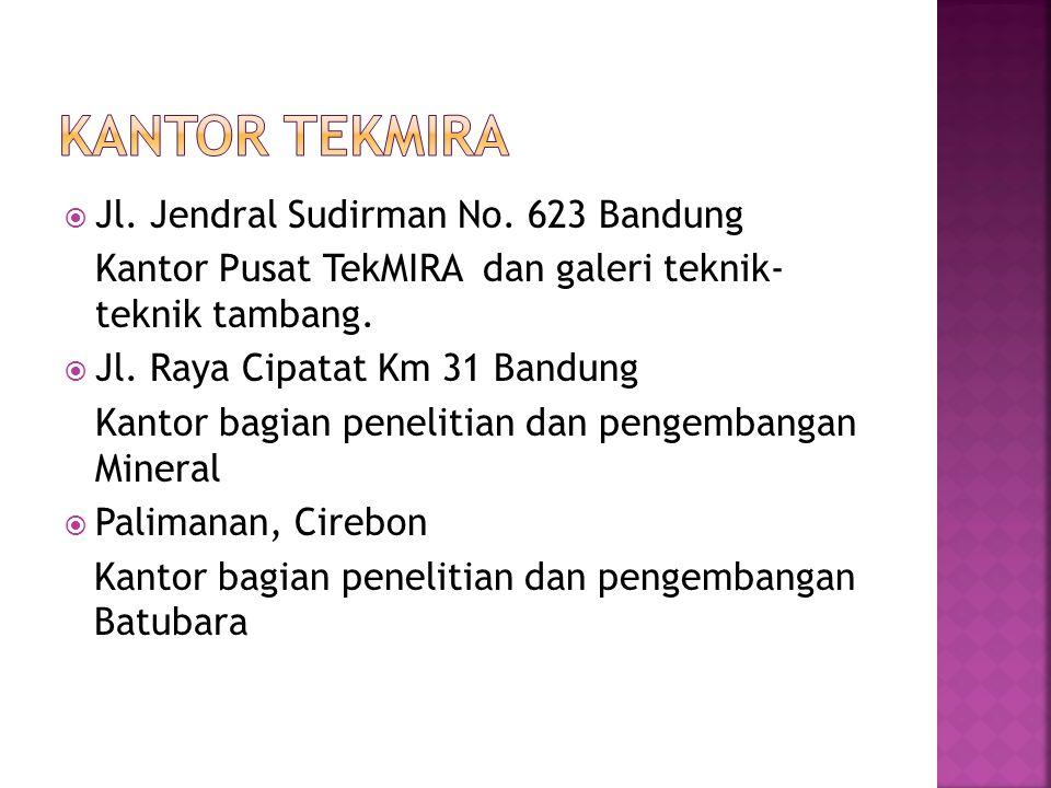 Kantor tekmira Jl. Jendral Sudirman No. 623 Bandung