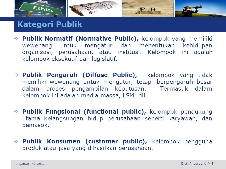 Kategori Publik