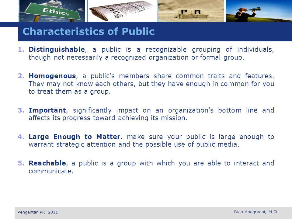 Characteristics of Public