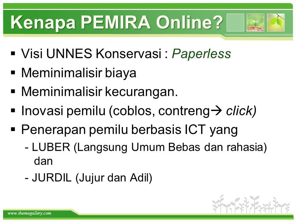 Kenapa PEMIRA Online Visi UNNES Konservasi : Paperless