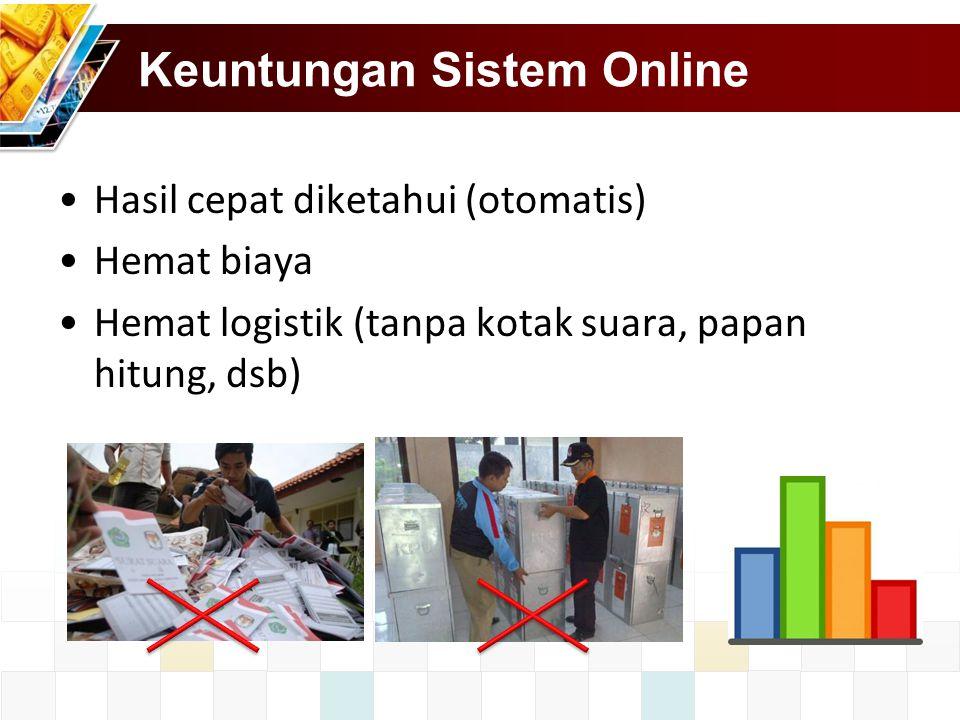 Keuntungan Sistem Online