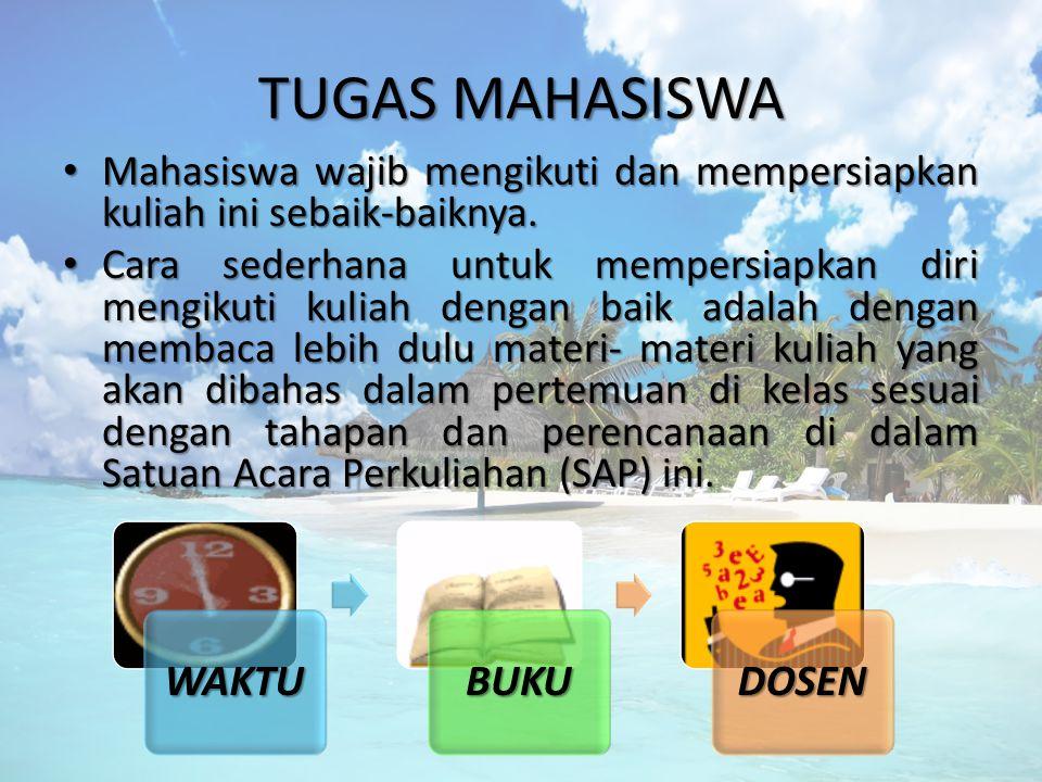 TUGAS MAHASISWA WAKTU BUKU DOSEN